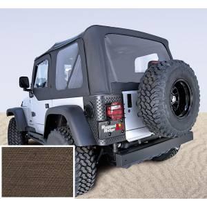 Exterior - Soft Tops - Rugged Ridge - Rugged Ridge Soft Top, Door Skins, Khaki, Clear Windows; 03-06 Jeep Wrangler TJ 13707.36