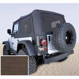 Exterior - Soft Tops - Rugged Ridge - Rugged Ridge Soft Top, Khaki, Tinted Windows; 03-06 Jeep Wrangler TJ 13710.36