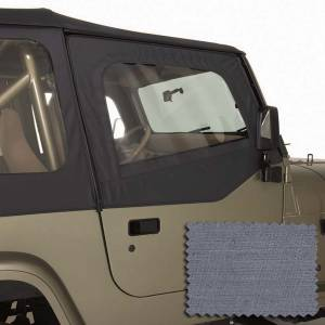 Exterior - Soft Tops - Rugged Ridge - Rugged Ridge Upper Soft Door Kit, Gray; 88-95 Jeep Wrangler YJ 13713.09