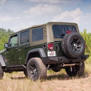 Exterior - Soft Tops - Rugged Ridge - Rugged Ridge Soft Top, Khaki, Tinted Windows; 07-09 Jeep Wrangler JK 13741.36