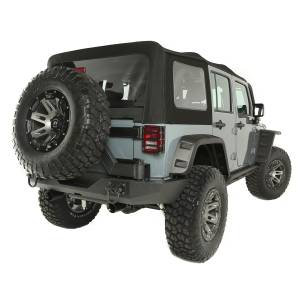 Exterior - Soft Tops - Rugged Ridge - Rugged Ridge Soft Top, Black Diamond, Sailcloth; 10-16 Jeep Wrangler JKU 13742.01