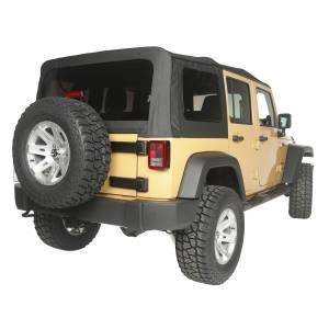 Exterior - Soft Tops - Rugged Ridge - Rugged Ridge Soft Top, Black Diamond, Vinyl; 10-16 Jeep Wrangler JKU 13742.35