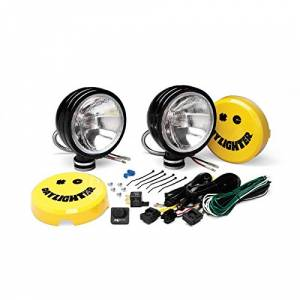 "Lighting - Off Road Lights - KC HiLiTES - KC HiLiTES 6"" Daylighter Halogen Pair Pack System - Black - KC #234 (Spread Beam) 234"