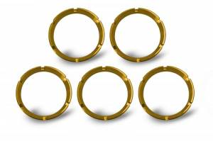 Lighting - Mounts & Wiring - KC HiLiTES - KC HiLiTES KC FLEX Bezels - Gold ED Coated (5 pack) - #30562 30562