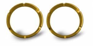 Lighting - Mounts & Wiring - KC HiLiTES - KC HiLiTES KC FLEX Bezels - Gold ED Coated (pair) 30552