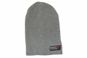 Apparel & Gear - Hats - Poison Spyder - Poison Spyder Ps Logo Slouch Beanie Gry 11In Loose Knit 50-46-224
