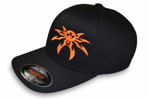 Apparel & Gear - Hats - Poison Spyder - Poison Spyder Psc Blk/Ornge Flx Hat S/M 50-46-210-S