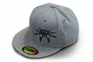 Apparel & Gear - Hats - Poison Spyder - Poison Spyder Psc Gry Flat Hat S/M 50-46-205-S