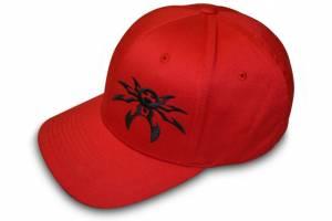 Apparel & Gear - Hats - Poison Spyder - Poison Spyder Psc Red/Blk Flx Hat S/M 50-46-211-S